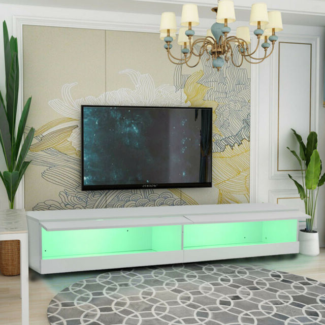 Most Recently Released 180cm Tv Stand Cabinet With Led Lights Entertainment For Galicia 180cm Led Wide Wall Tv Unit Stands (View 5 of 10)