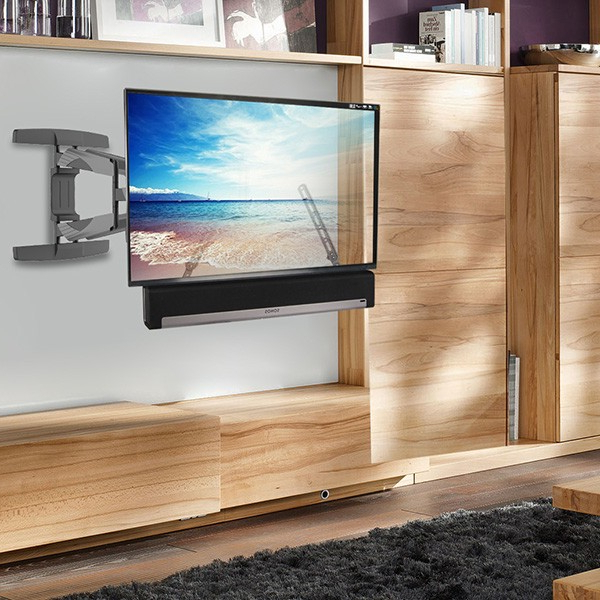 """Most Recently Released Casey May Tv Stands For Tvs Up To 70"""" Throughout Lithe Audio Full Motion Corner Tv Wall Mount (06202) At Ukes (View 5 of 25)"""