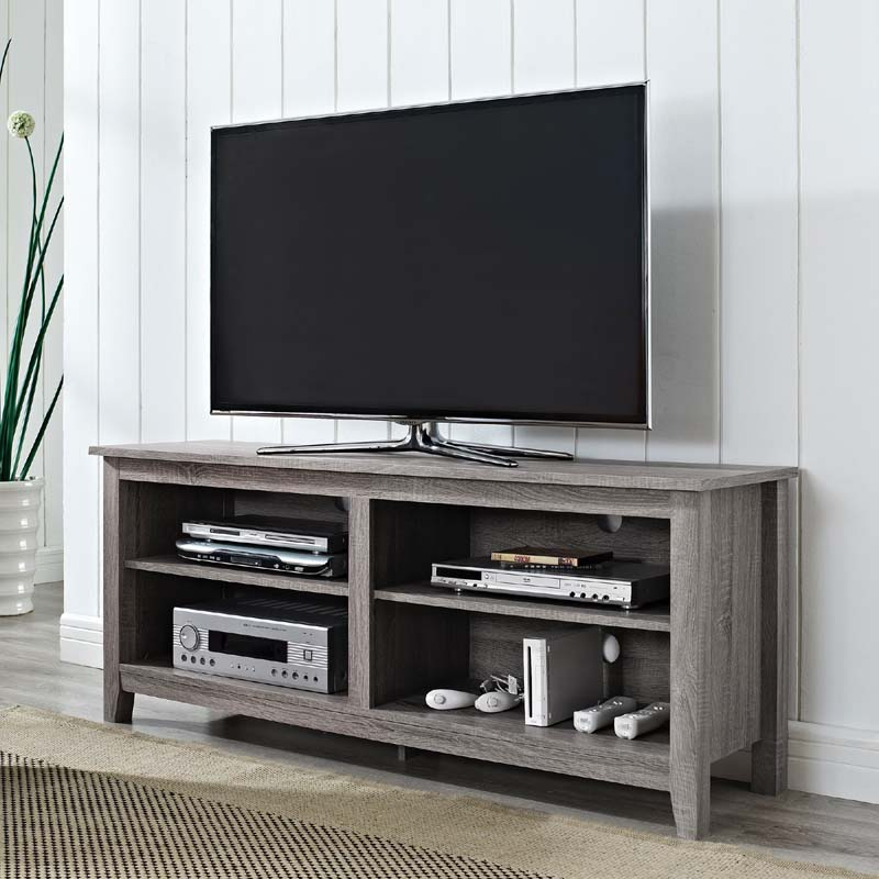 Most Recently Released Delphi Grey Tv Stands For Walker Edison Urban Essentials 60 Inch Tv Stand (ash Gray (View 21 of 25)