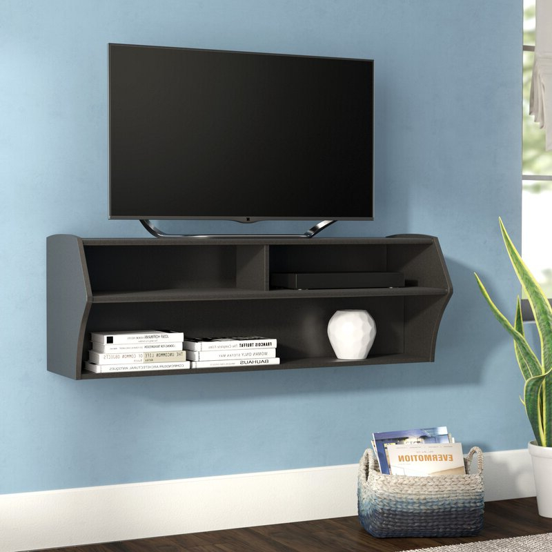 """Most Recently Released Ebern Designs Capirano Floating Tv Stand For Tvs Up To 55 Throughout Aaliyah Floating Tv Stands For Tvs Up To 50"""" (View 7 of 25)"""