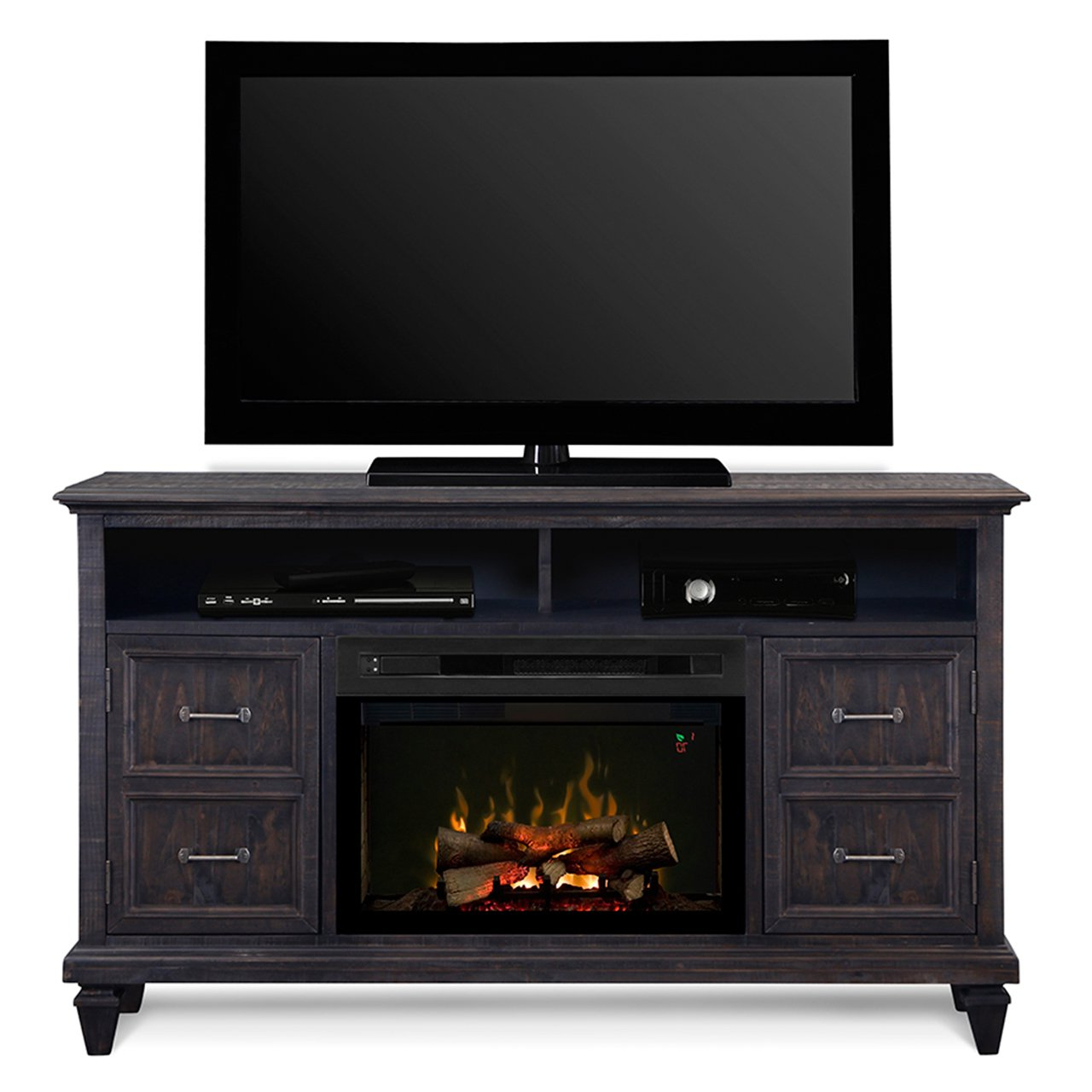 Most Recently Released Fireplace Media Console Tv Stands With Weathered Finish Intended For Dimplex Electric Fireplace Tv Stand Media Console Space (View 3 of 10)