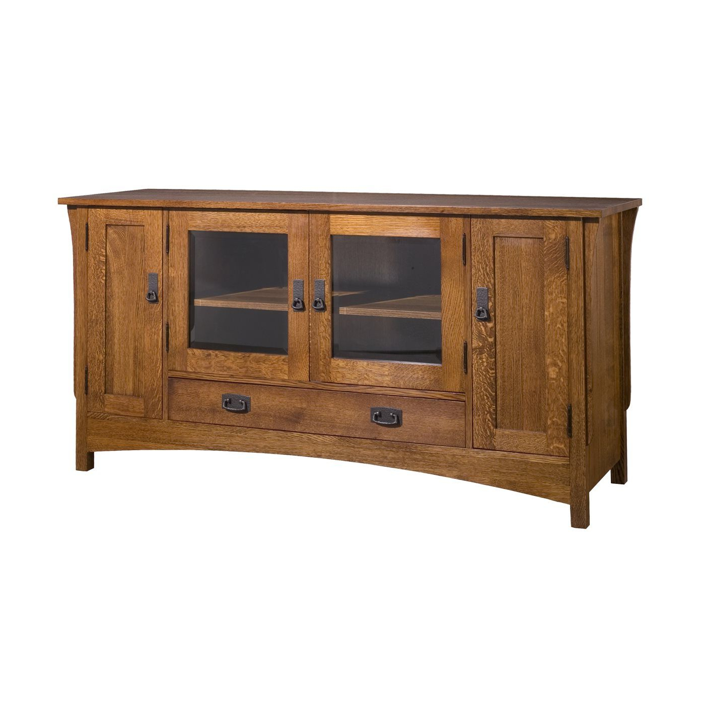 Most Recently Released Lancaster Small Tv Stands Regarding Craftsman Usa 1535wsh Mission Tv Console (View 3 of 10)