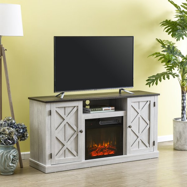 """Most Recently Released Lorraine Tv Stands For Tvs Up To 60"""" With Fireplace Included With Regard To Gracie Oaks Earlimart Tv Stand For Tvs Up To 60"""" With (View 9 of 25)"""