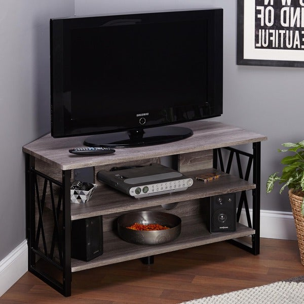 Most Recently Released Lucas Extra Wide Tv Unit Grey Stands For Simple Living Seneca Corner Tv Stand – Free Shipping Today (View 10 of 10)