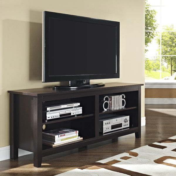 Most Recently Released Mainstays 3 Door Tv Stands Console In Multiple Colors Regarding Give Your Flat Screen A Handsome Home With This Tasteful (View 1 of 10)