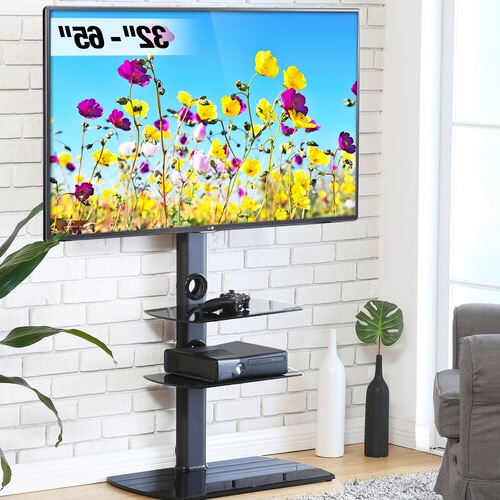Most Recently Released Symple Stuff Randal Symple Stuff Black Swivel Floor Stand For Randal Symple Stuff Black Swivel Floor Tv Stands With Shelving (View 7 of 25)