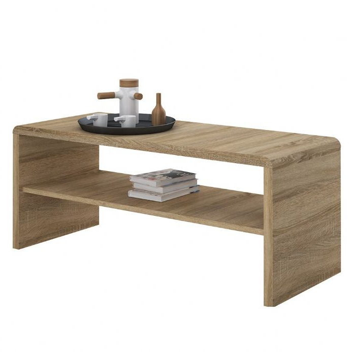 Most Recently Released Tiva Ladder Tv Stands With 4 You Wide Coffee Table Tv Unit In Sonama Oak (View 8 of 10)