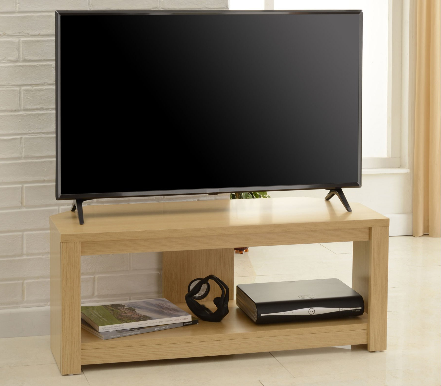 """Most Recently Released Tnw Bos 1200 Oak Boston Corner Tv Stand In Oak – For 60"""" Tvs Throughout Boston Tv Stands (View 5 of 10)"""