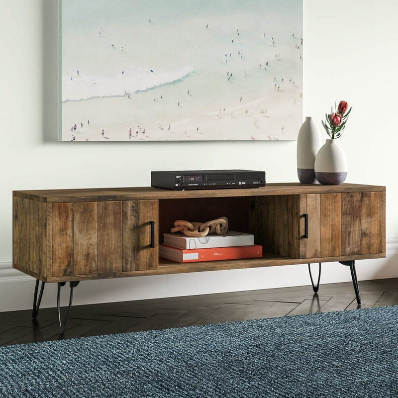 """Most Recently Released Tv Stands For Tvs Up To 65"""" With Adger Solid Wood Tv Stand For Tvs Up To 65"""" & Reviews (View 16 of 22)"""