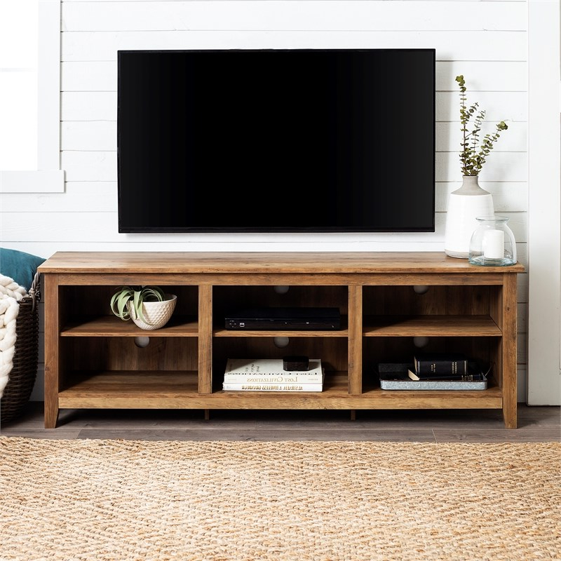 Most Recently Released Tv Stands With Table Storage Cabinet In Rustic Gray Wash For 70 Inch Wood Media Tv Stand Storage Console In Rustic Oak (View 2 of 10)