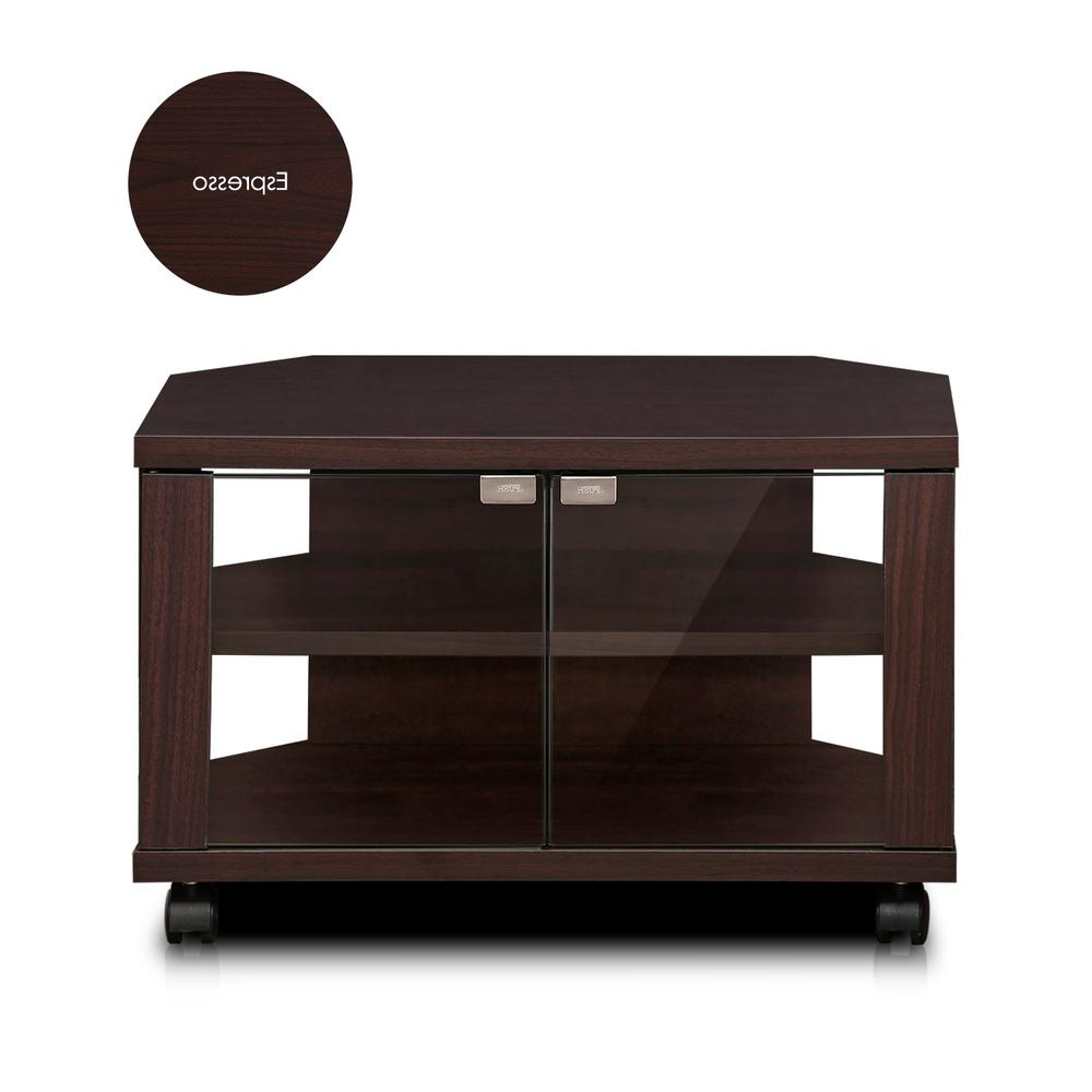 Most Recently Released Winsome Wood Zena Corner Tv & Media Stands In Espresso Finish Inside Furinno Indo 24 In (View 3 of 10)