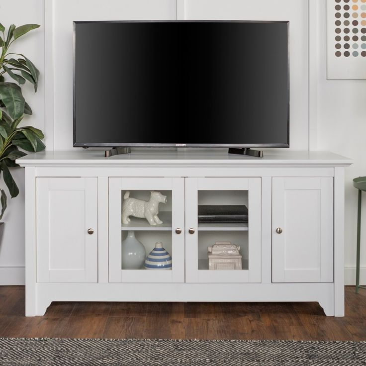 """Most Recently Released Wood Storage Console Tv Stand For Tvs Up To 58"""" White Inside Kamari Tv Stands For Tvs Up To 58"""" (View 11 of 25)"""