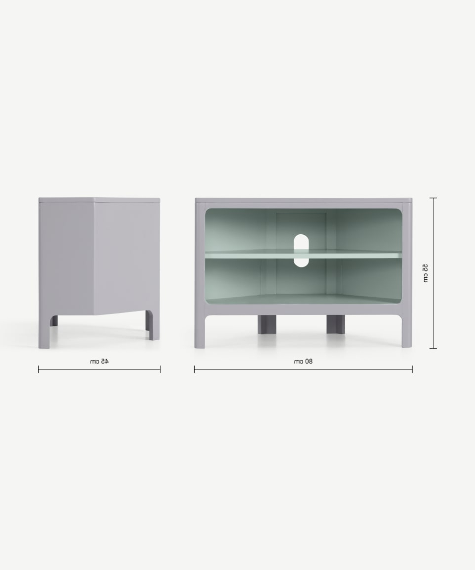 Most Up To Date Bromley Corner Media Unit, Grey & Mint (View 10 of 10)