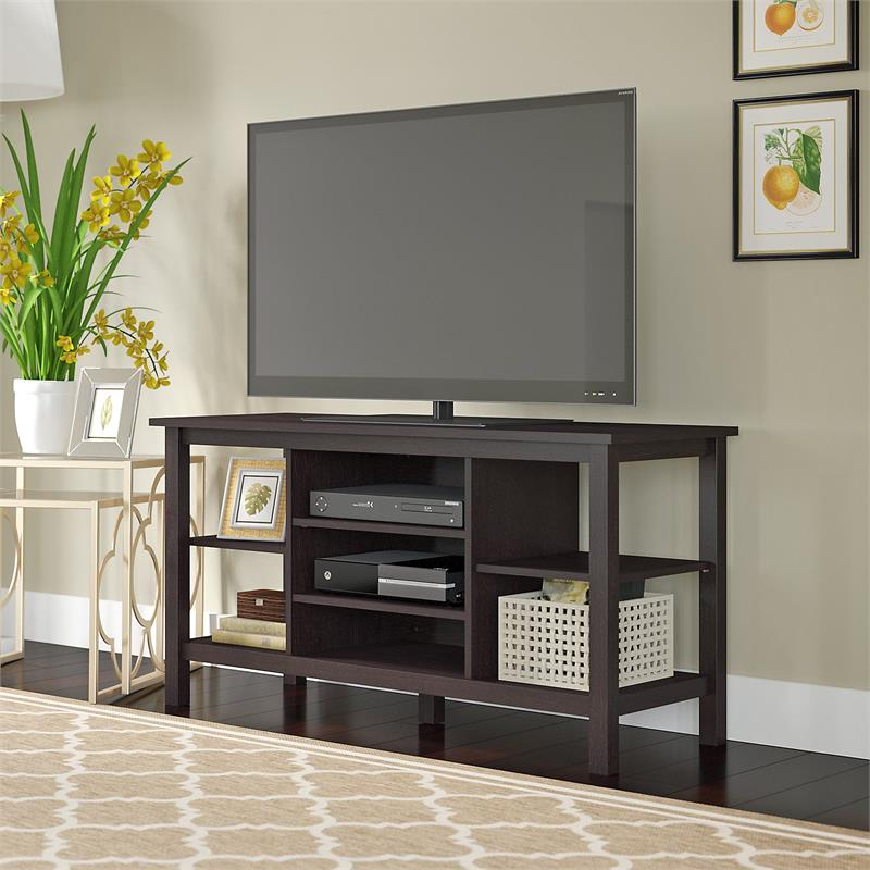 """Most Up To Date Bush Furniture Broadview Tv Stand In Espresso Oak For Tv's For Spellman Tv Stands For Tvs Up To 55"""" (View 3 of 25)"""