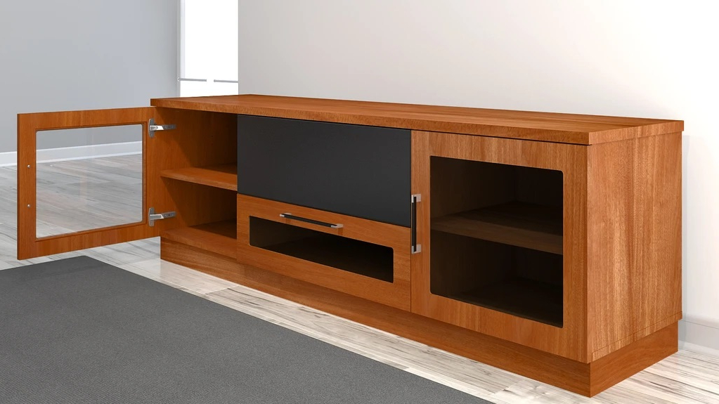 Most Up To Date Furnitech Ft72cclc Contemporary Tv Stand Media Console Up Within Tv Stands With Led Lights In Multiple Finishes (View 7 of 10)