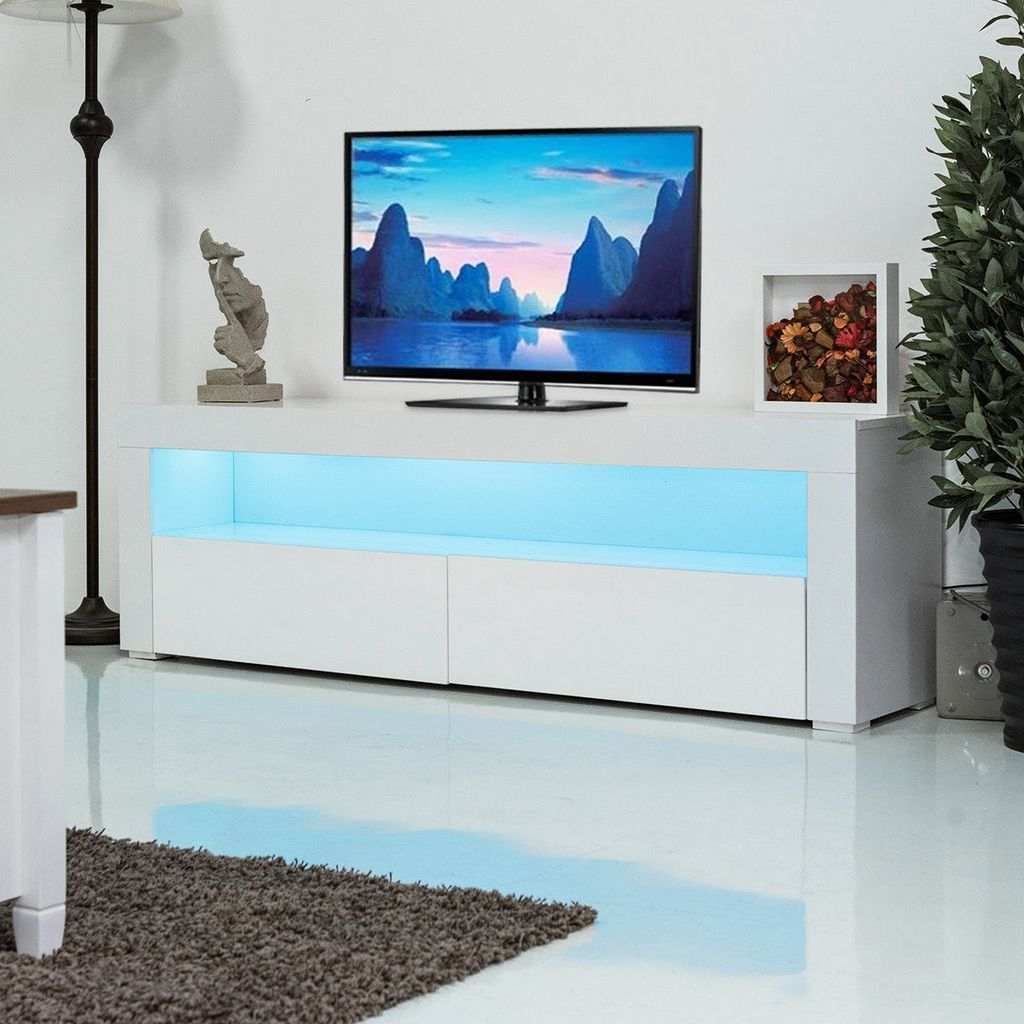 Most Up To Date Giantex Living Room Tv Stand Unit Cabinet Console With Ktaxon Modern High Gloss Tv Stands With Led Drawer And Shelves (View 3 of 10)