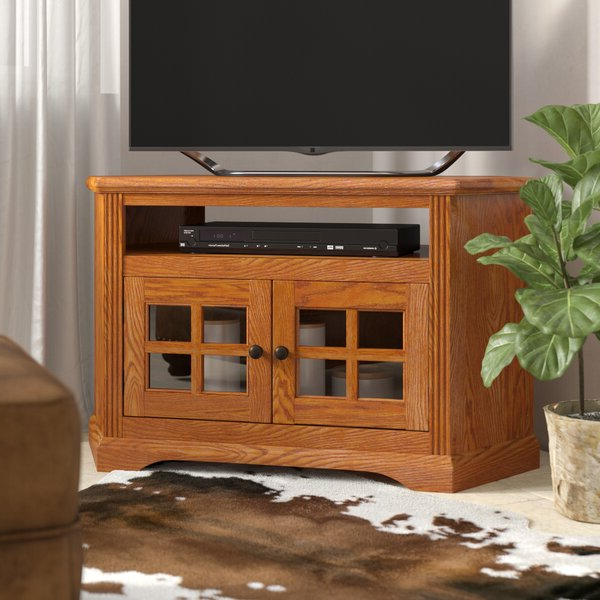"""Most Up To Date Loon Peak® Glastonbury Solid Wood Corner Tv Stand For Tvs Throughout Baba Tv Stands For Tvs Up To 55"""" (View 1 of 25)"""