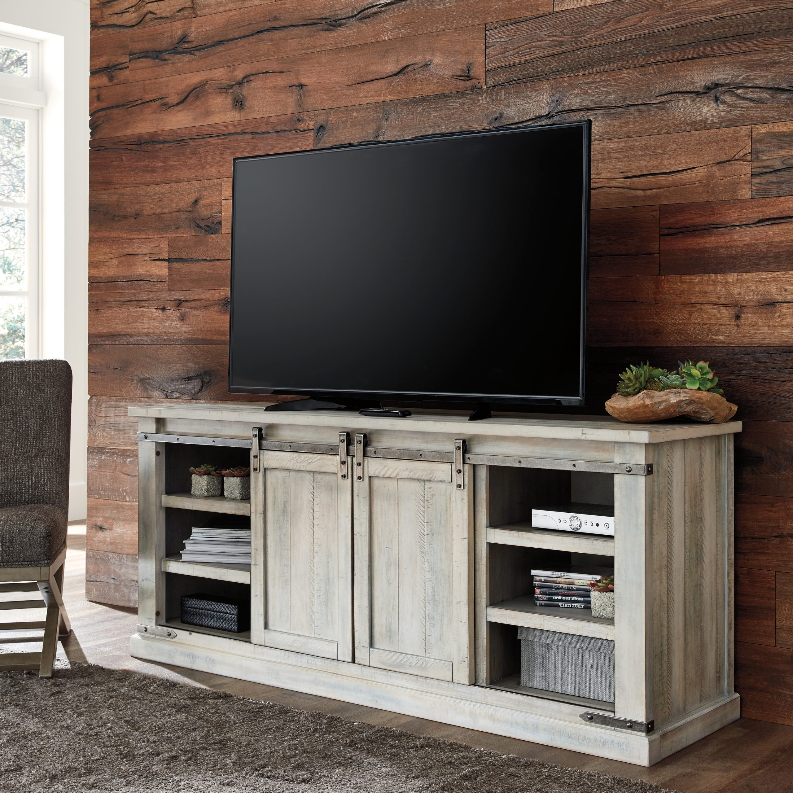 """Most Up To Date Lorraine Tv Stands For Tvs Up To 70"""" Within Carynhurst 70"""" Tv Standsignature Designashley (View 14 of 25)"""