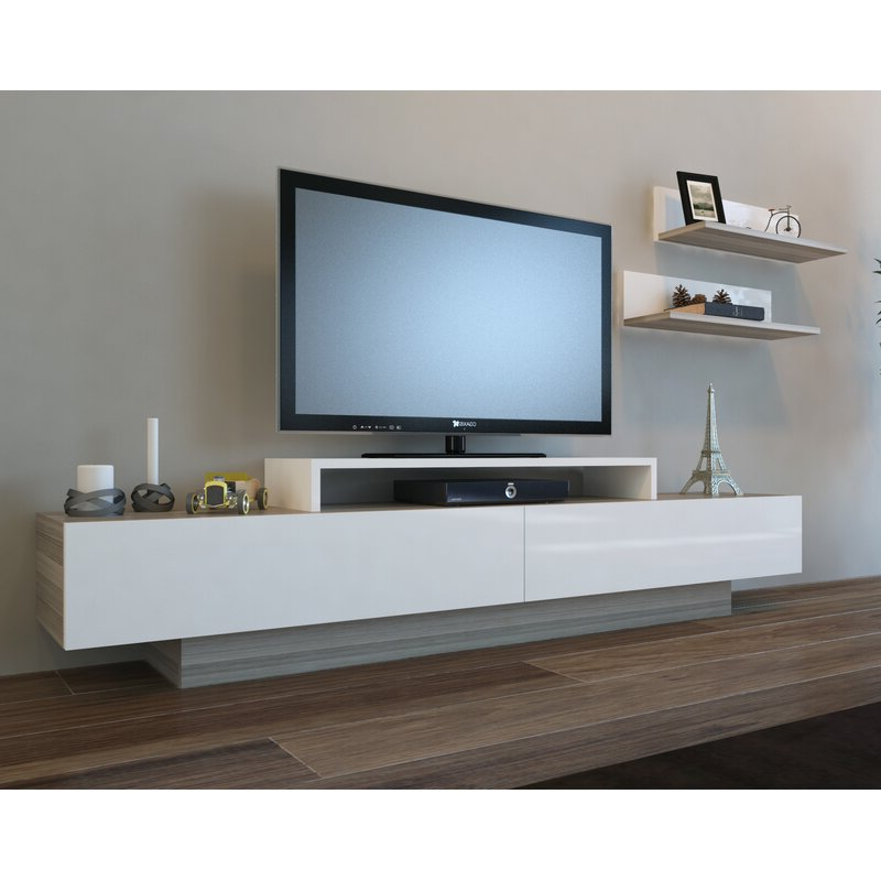 """Most Up To Date Olinda Tv Stands For Tvs Up To 65"""" Pertaining To Orren Ellis Pritts Tv Stand For Tvs Up To 78"""" & Reviews (View 14 of 25)"""