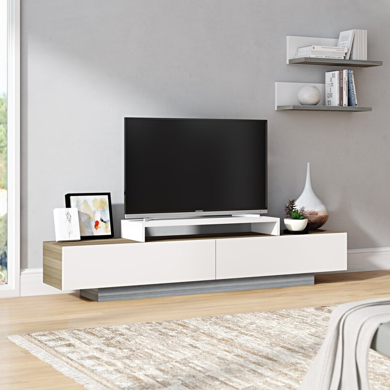"""Most Up To Date Orren Ellis Pritts Tv Stand For Tvs Up To 78"""" & Reviews Regarding Grandstaff Tv Stands For Tvs Up To 78"""" (View 8 of 25)"""