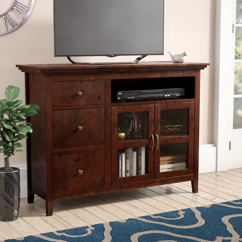 """Most Up To Date Red Barrel Studio® Hallstead Solid Wood Tv Stand For Tvs Intended For Twila Tv Stands For Tvs Up To 55"""" (View 19 of 25)"""