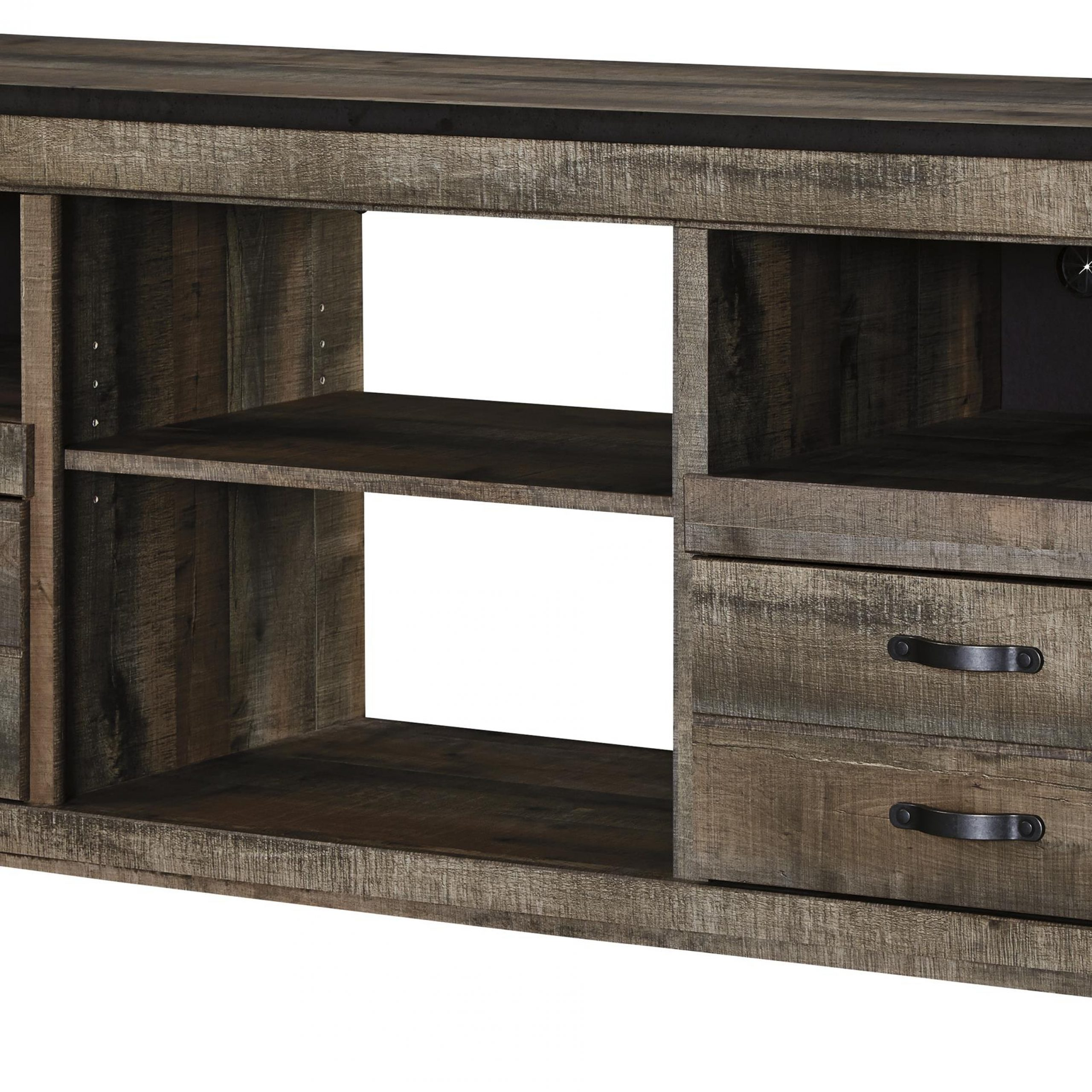 Most Up To Date Signature Designashley Trinell Rustic Large Tv Stand With Lucas Extra Wide Tv Unit Grey Stands (View 6 of 10)