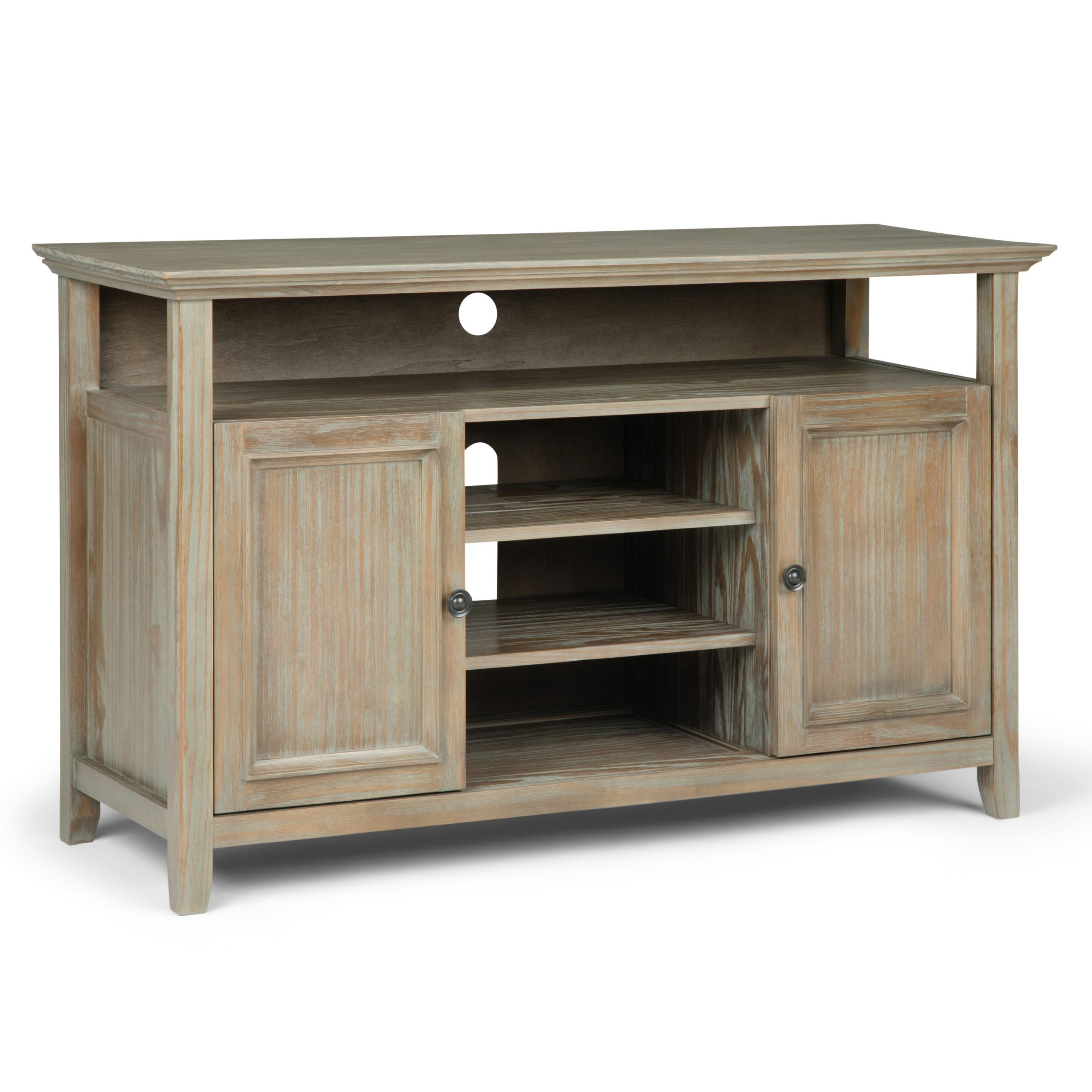 Most Up To Date Tribeca Oak Tv Media Stand With Brooklyn + Max Washington Solid Wood 54 Inch Wide (View 7 of 10)