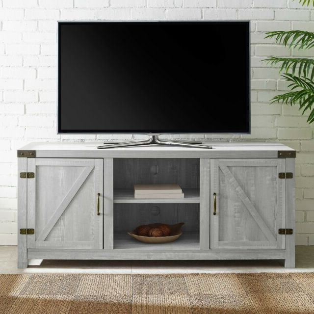 Most Up To Date Tv Stands In Rustic Gray Wash Entertainment Center For Living Room With Regard To Rustic Stone Gray Entertainment Center 65 Inch Tv Stand (View 4 of 10)