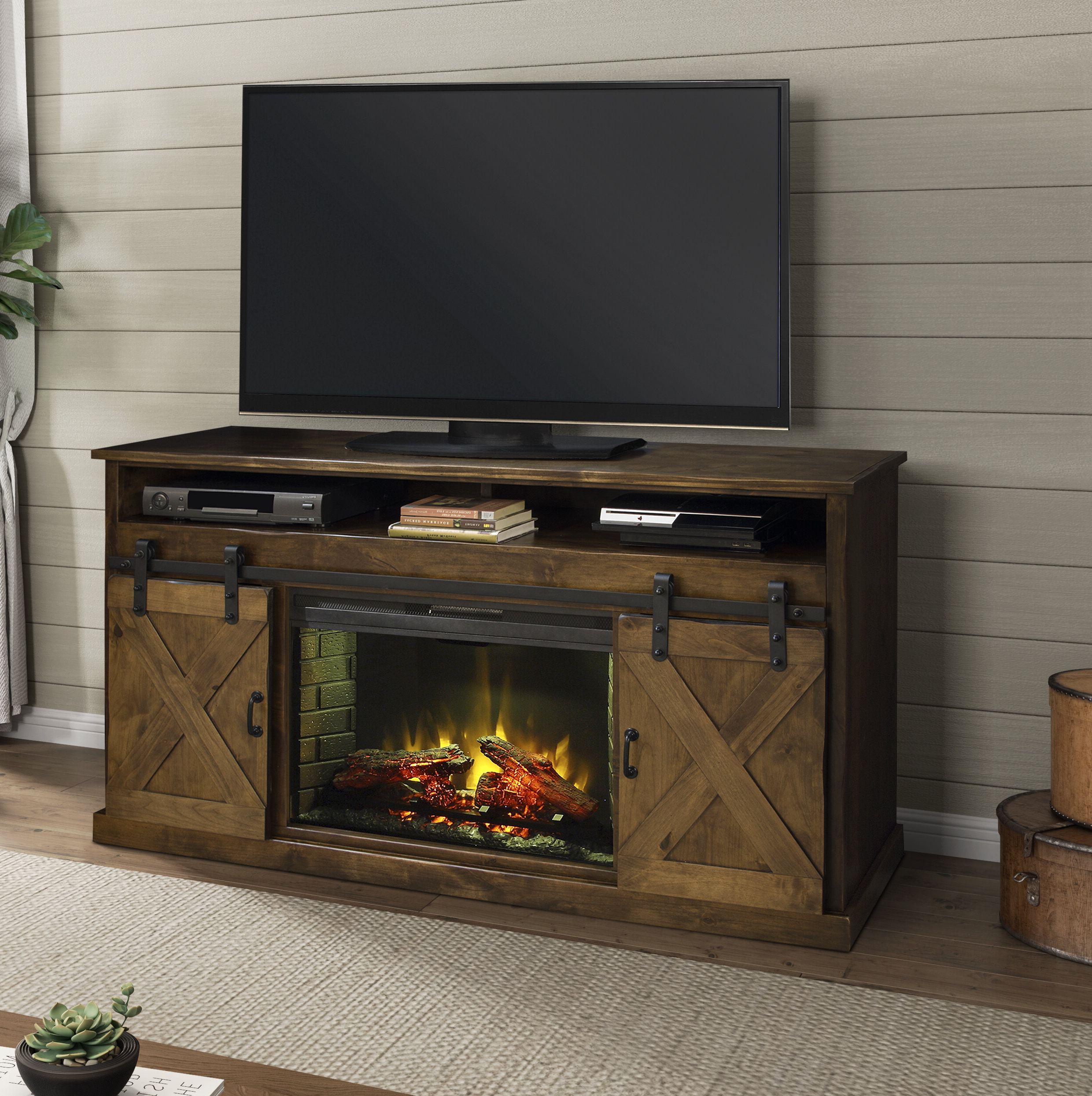 """Neilsen Tv Stands For Tvs Up To 65"""" Pertaining To Latest 65 Inch Tv Stand With Fireplace (View 5 of 25)"""