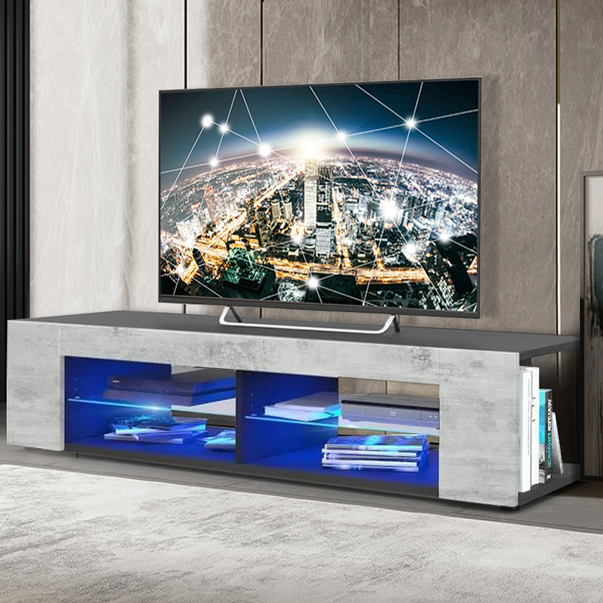 """Neilsen Tv Stands For Tvs Up To 65"""" With Recent Modern Led Tv Stand Tv Cabinet For Tvs Up To 65"""", With (View 19 of 25)"""