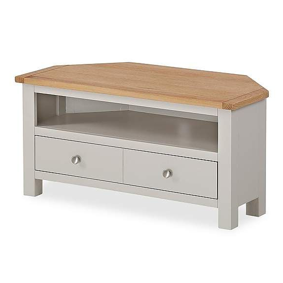 Newest Bromley Oak Tv Stands Intended For Bromley Grey Corner Tv Stand (View 6 of 25)
