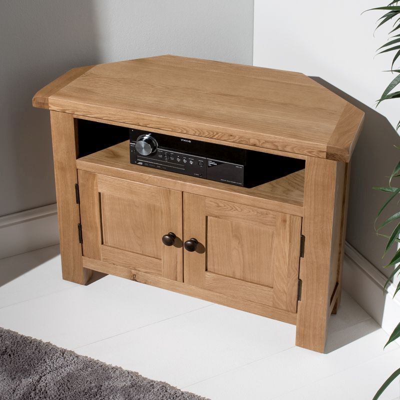 Newest Cotswold Widescreen Tv Unit Stands Throughout Cotswold Corner Tv Unit Oak 2 Door 1 Shelf – Buy Online At (View 5 of 10)