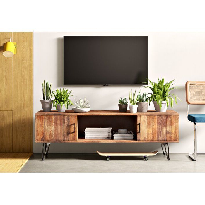 """Newest Giltner Solid Wood Tv Stands For Tvs Up To 65"""" Throughout Adger Solid Wood Tv Stand For Tvs Up To 65"""" In  (View 2 of 25)"""