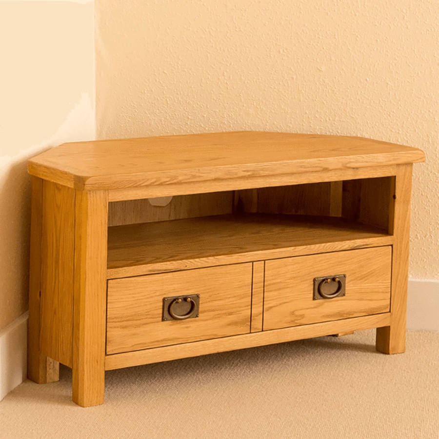 Newest Lanner Oak Corner Tv Stand (View 2 of 10)