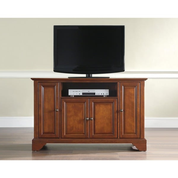 Newest Martin Svensson Home Barn Door Tv Stands In Multiple Finishes Throughout Lafayette Classic Cherry 48 Inch Tv Stand – Overstock (View 8 of 10)