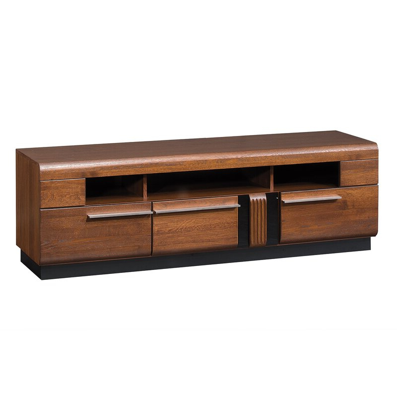 """Newest Miconia Solid Wood Tv Stands For Tvs Up To 70"""" Pertaining To Latitude Run Catie Solid Wood Tv Stand For Tvs Up To  (View 9 of 25)"""