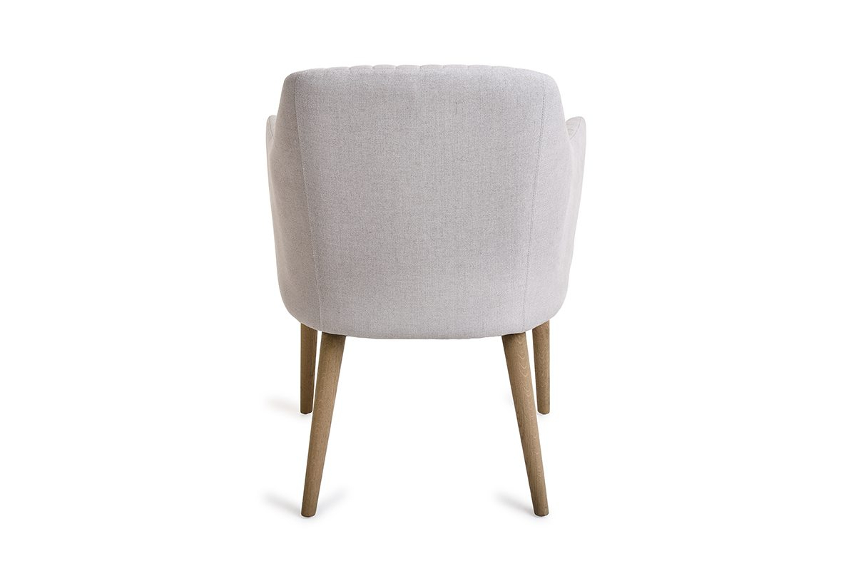 Newest Orsen Tv Stands Intended For Orson Chair Cream Linen – Michael Murphy Home Furnishing (View 9 of 25)