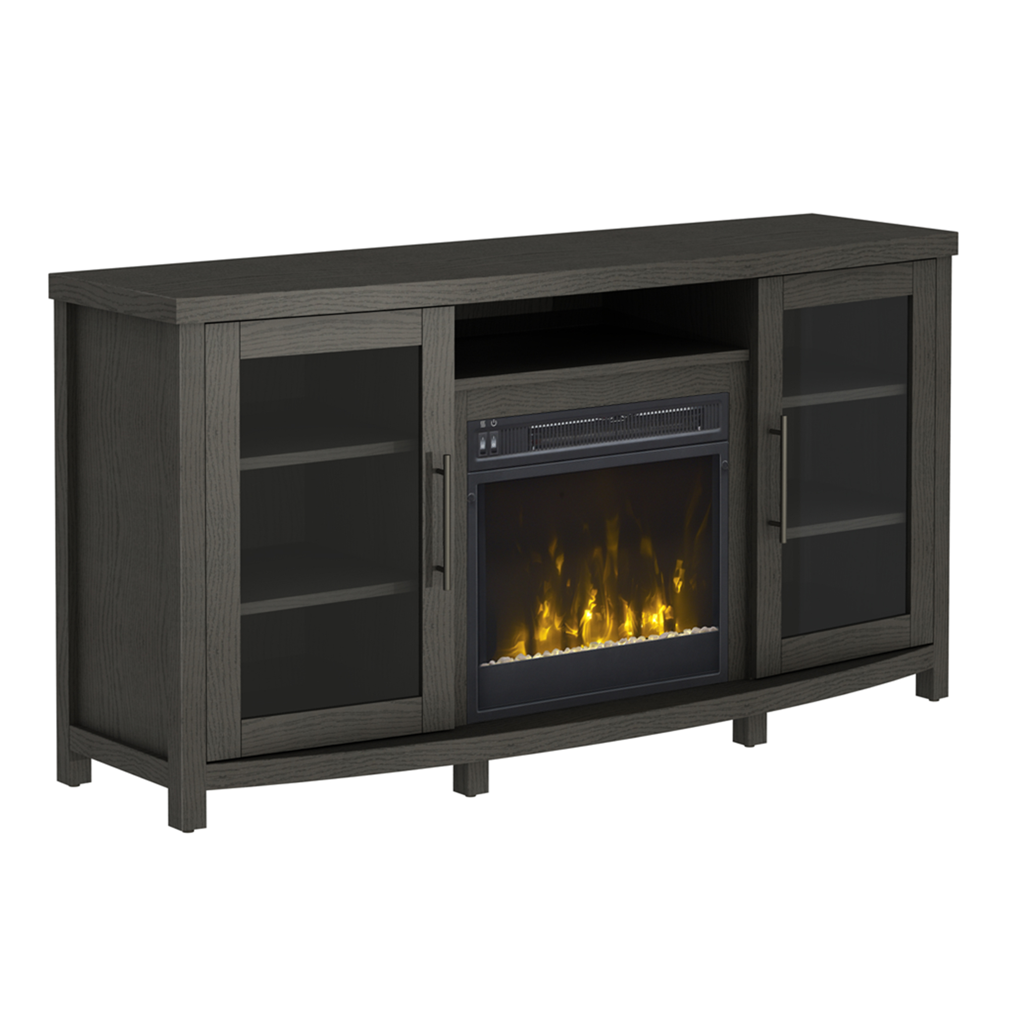"""Newest Rossville Tv Stand For Tvs Up To 60 With Electric Fireplace Intended For Hal Tv Stands For Tvs Up To 60"""" (View 13 of 25)"""