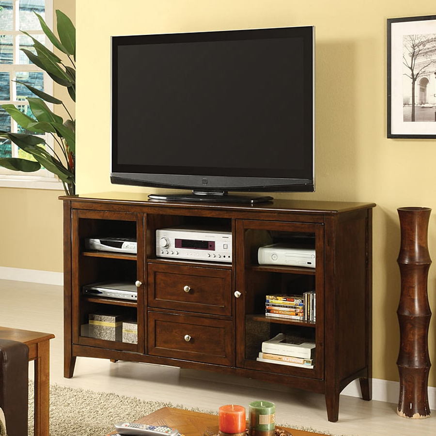 Newest Shop Furniture Of America Lancaster Dark Walnut Regarding Lancaster Corner Tv Stands (View 4 of 10)