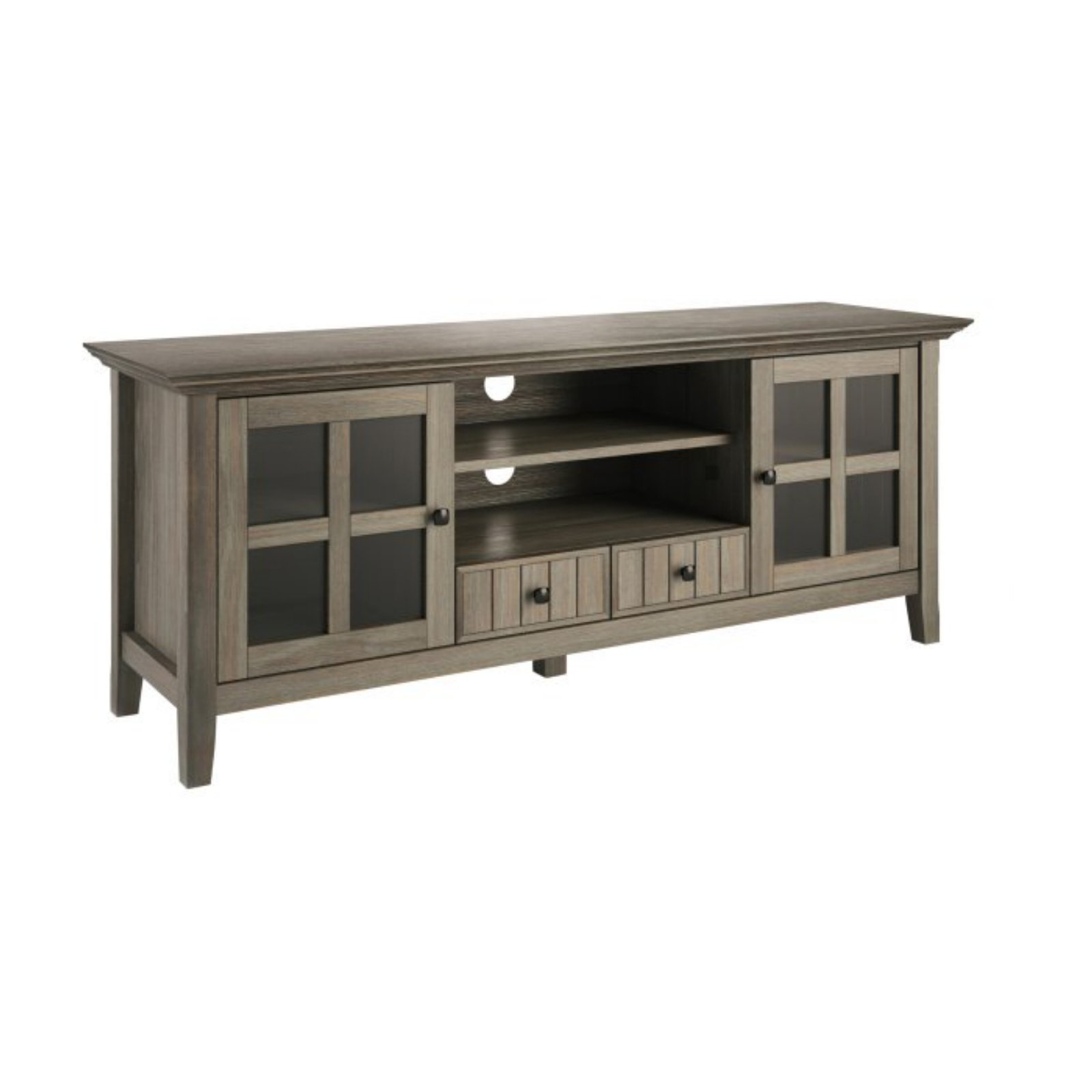 """Newest Solid Wood Tv Stands For Tvs Up To 65"""" With Brooklyn + Max Brunswick Solid Wood 60 Inch Wide Rustic Tv (View 10 of 25)"""