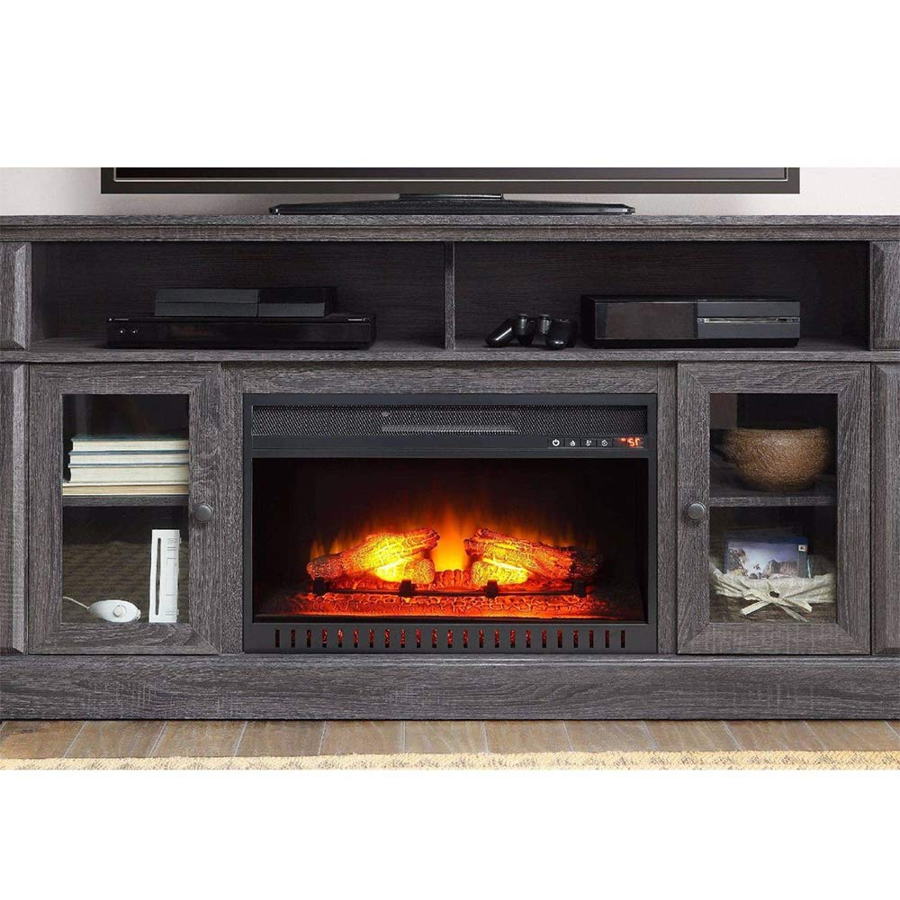 """Newest Thaweesuk Shop Gray Tv Stand Media Fireplace Electric Throughout Lorraine Tv Stands For Tvs Up To 60"""" (View 25 of 25)"""