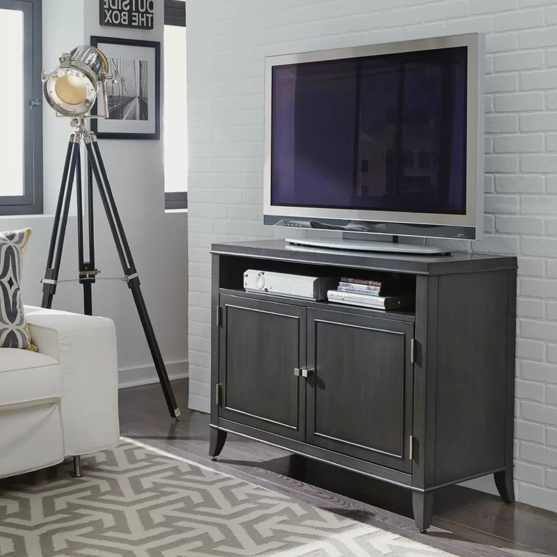 """Newest Tiva Oak Ladder Tv Stands Throughout Adair Tv Stand For Tvs Up To 48"""" In  (View 7 of 10)"""
