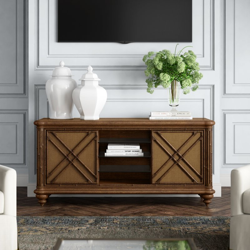 """Newest Tommy Bahama Home Bali Hai Solid Wood Tv Stand For Tvs Up Inside Chrissy Tv Stands For Tvs Up To 75"""" (View 14 of 25)"""