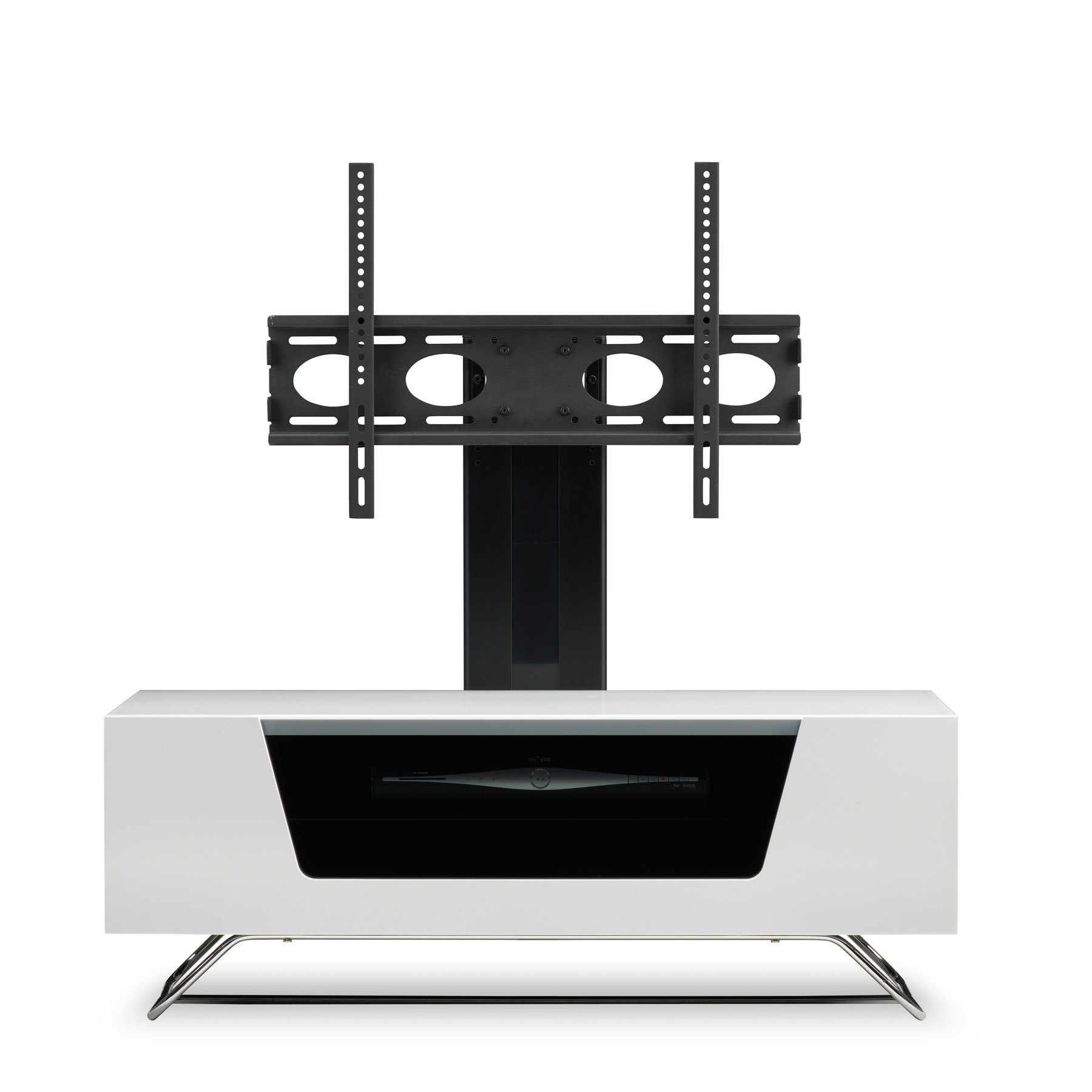 """Newest Tv Stands For Tvs Up To 50"""" Pertaining To Alphason Chromium 2 100cm White Tv Stand For Up To 50"""" Tvs (View 17 of 25)"""