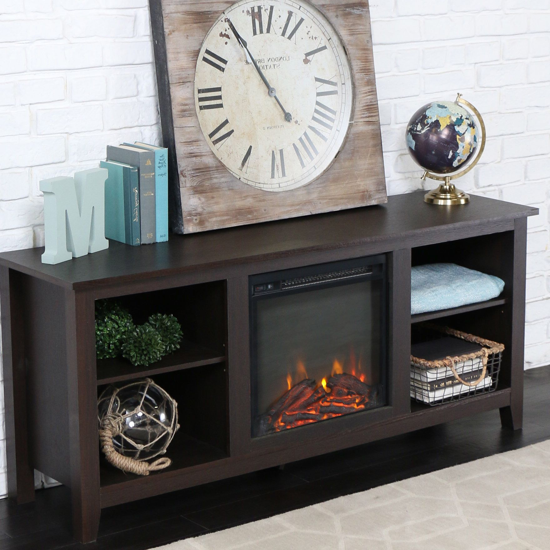 """Newest Twin Star Home Terryville Barn Door Tv Stands For Sunbury Tv Stand For Tvs Up To 65"""" With Fireplace Included (View 3 of 10)"""