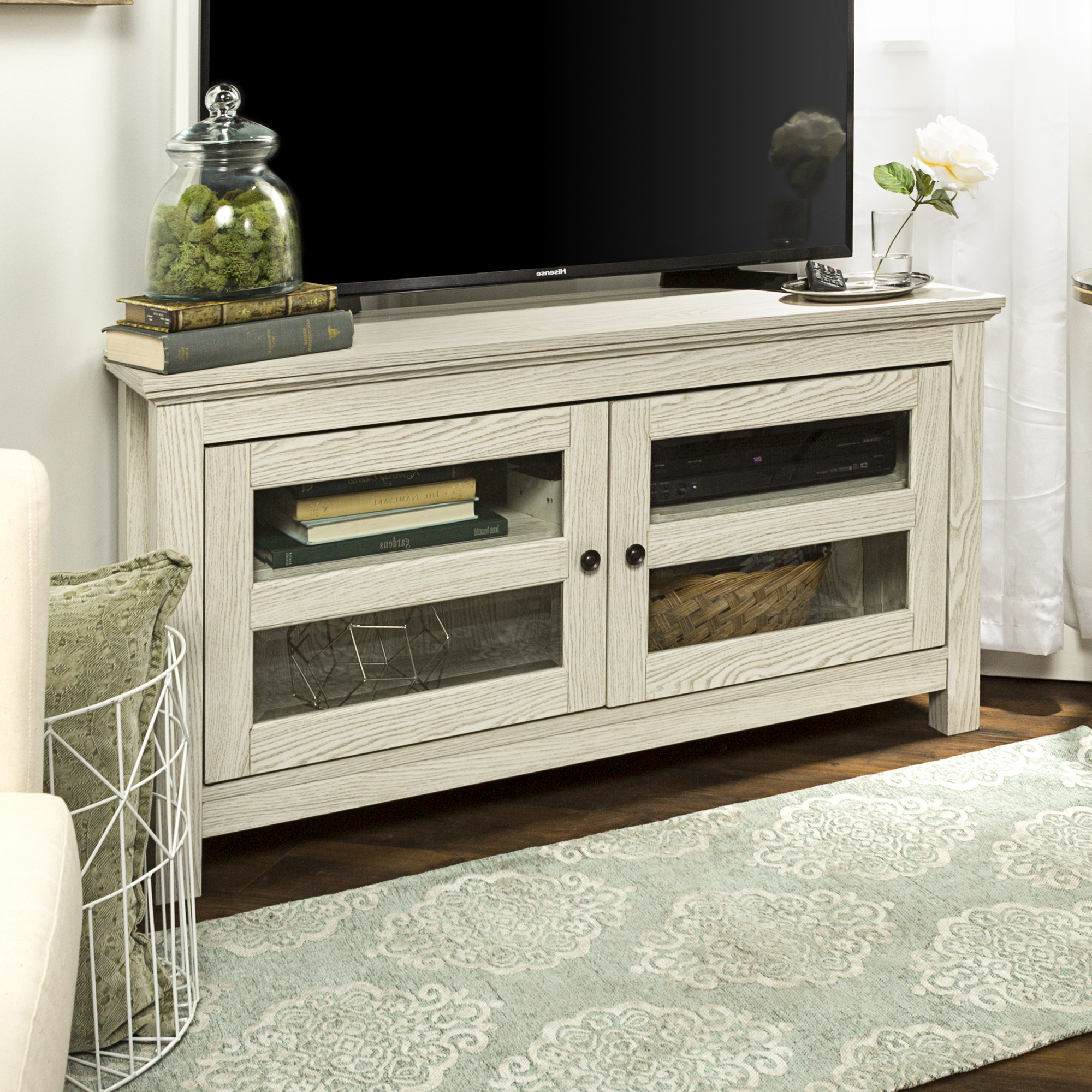 """Newest Walker Edison Wood Corner Tv Stand For Tvs Up To 48 In Spellman Tv Stands For Tvs Up To 55"""" (View 11 of 25)"""