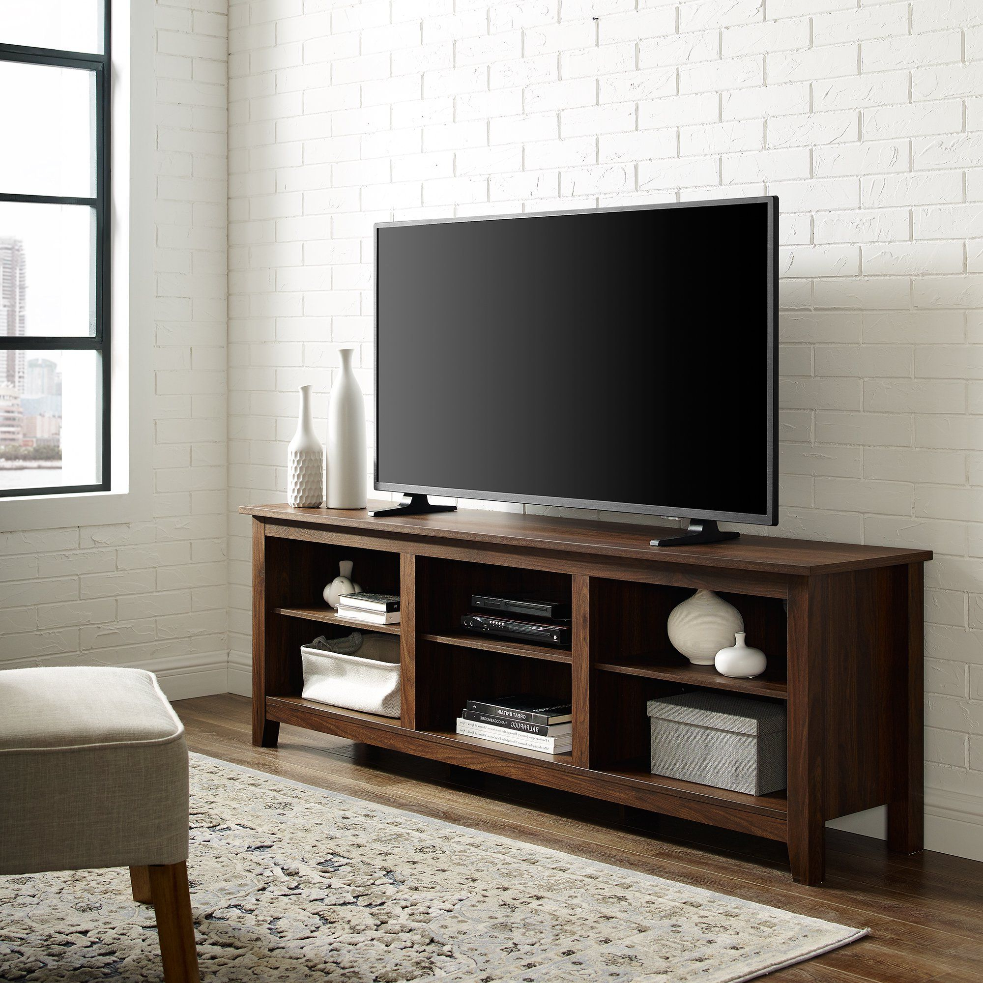 Newest Woven Paths Open Storage Tv Stand For Tvs Up To 80 With Woven Paths Open Storage Tv Stands With Multiple Finishes (View 3 of 10)