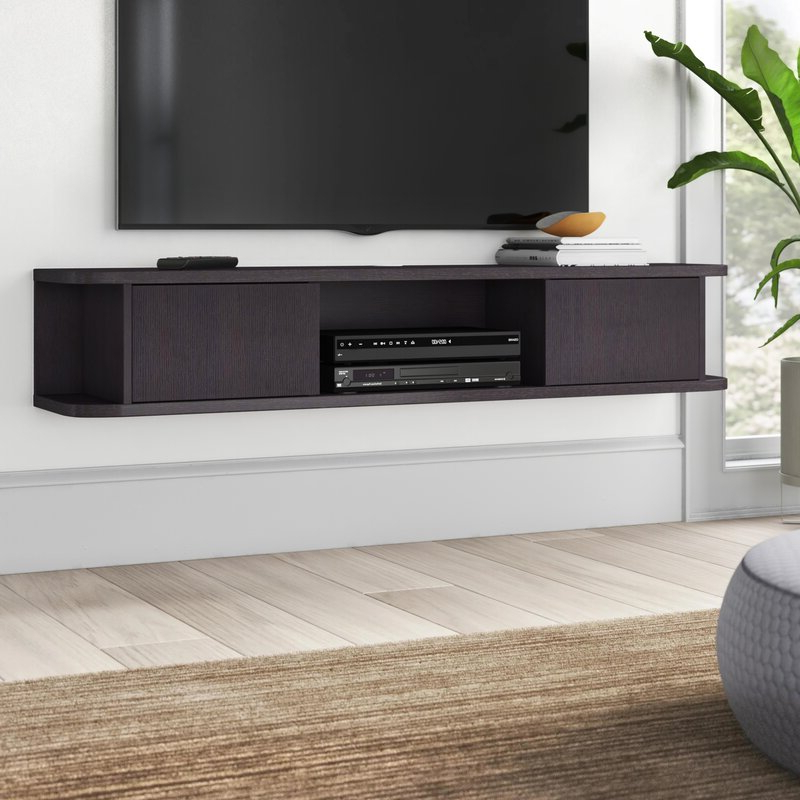 """Newest Wrought Studio Keim Solid Wood Floating Tv Stand For Tvs For Ezlynn Floating Tv Stands For Tvs Up To 75"""" (View 15 of 25)"""
