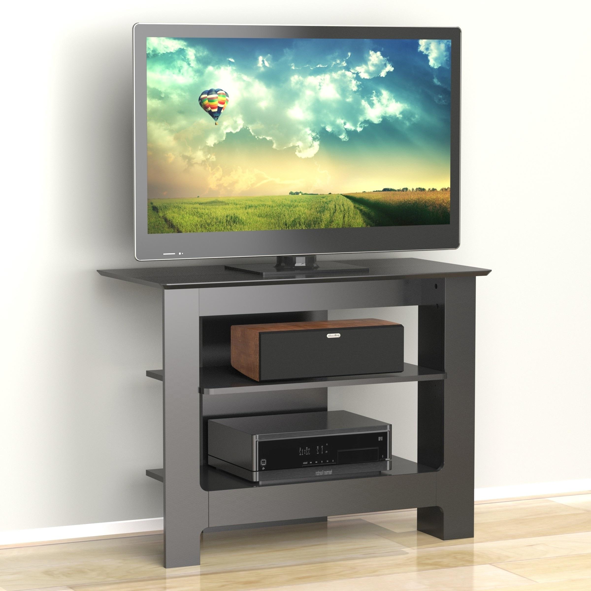 Nexera Pinnacle 31 Inch Tall Boy Tv Stand, Black Black (View 6 of 25)