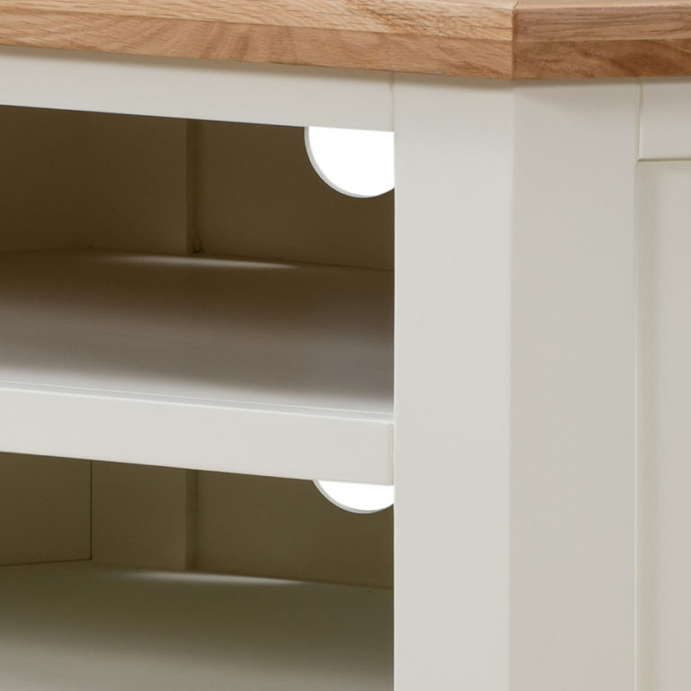 No Assembly Required Intended For Compton Ivory Corner Tv Stands (View 22 of 25)